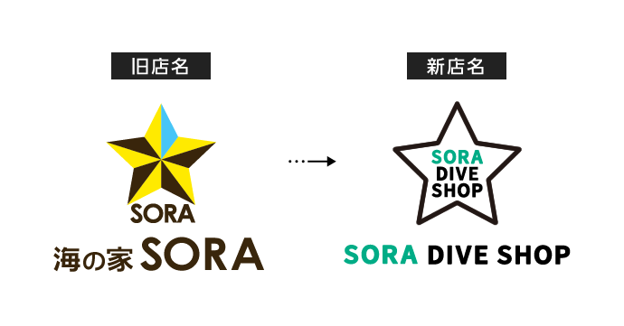 SORA DIVE SHOP 店名変更