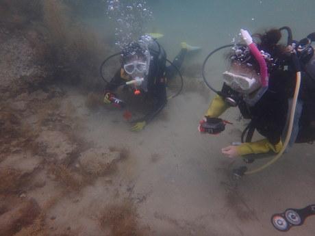 水中カメラの講習風景